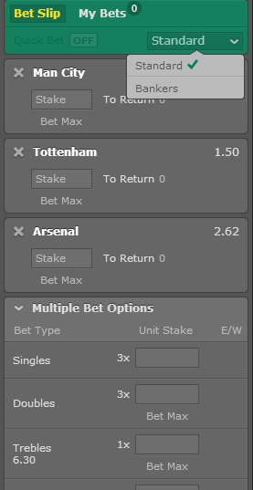 banker bet at bet365